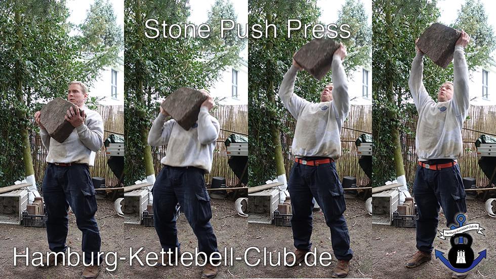 Stone overhead Press / Stein über Kopf Drücken