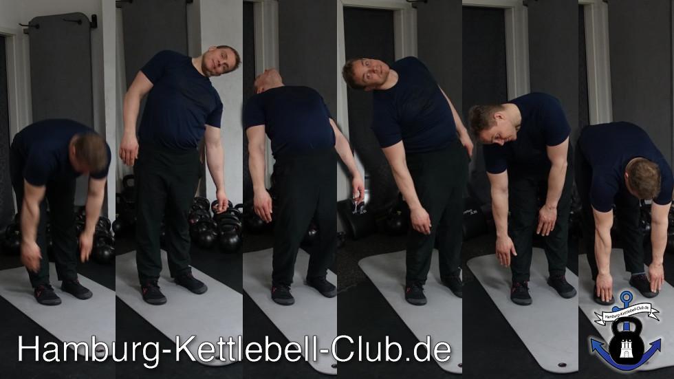 Zehen berühren Kettlebell Einstiegskriterium