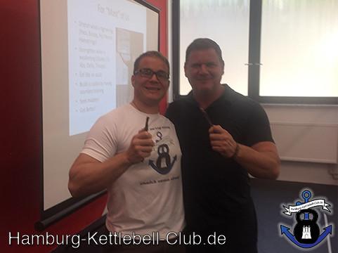Dan John und Frank Delventhal 2015 in der Kraba München