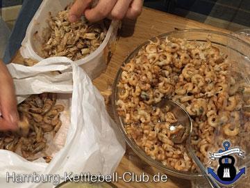 Frische Nordseekrabben eine hervorragende Proteinquelle