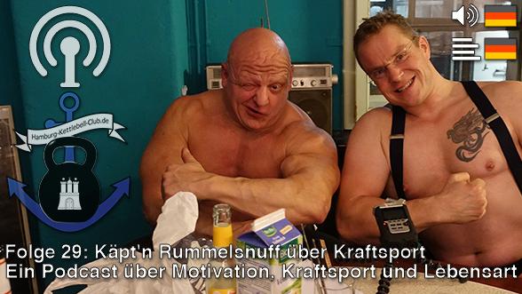 Podcast 29: Käpt'n Rummelsnuff über Kraftsport (Cover)