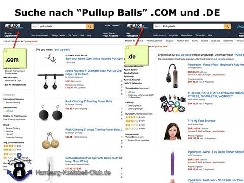 Unterschied DE und COM beim bestellen von Pullup Balls